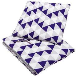 Kocyk i poduszka trójkąty minky marki Bubaland