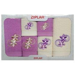 Komplet ręczników 6 szt. wrzos/ekri marki Ziplar