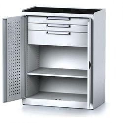 B2b partner Szafa warsztatowa mechanic, 1170 x 920 x 500 mm, 2 półki, 2 szuflady, szare drzwi