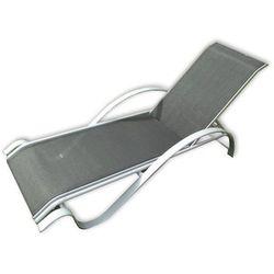 Ogrodowy metalowy leżak ZWC-78 czarny