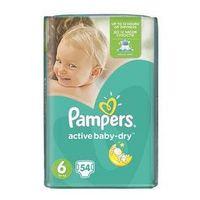 Pieluszki Pampers Active Baby-dry rozmiar 6 Extra Large, 56 szt.