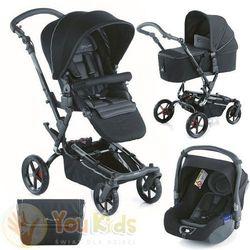 Od youkids zestaw epic 3w1 wózek + gondola micro + fotelik koos - s49 black marki Jane