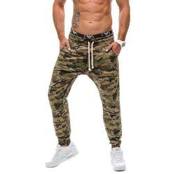 Spodnie męskie joggery  0367 moro-khaki - KHAKI, ATHLETIC