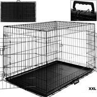 Duża klatka metalowa kojec dla psów psa 122x76x83 - xxl marki Aml