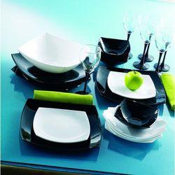 Quadrato 19 ele. serwis obiadowy czarno biały marki Luminarc