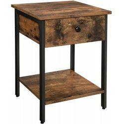 Stolik szafka w stylu loftowym let55bx 2055 rustykalny brąz marki Meblin (muf)