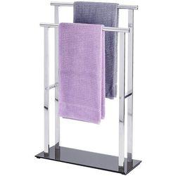 Stojak na ręczniki LAVA - 2 ramienny, stal nierdzewna, WENKO (4008838504437)