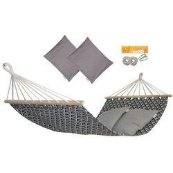 Hamak z drążkiem z poduszkami i zestawem montażowym, Szary Zuni+ HP-111 + H2_2