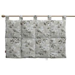 wezgłowie na szelkach, brązowo-beżowe kwiaty, 90 x 67 cm, rustica marki Dekoria