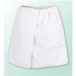 Sauna kilt ręcznik biały 100% bawełna męski 50*140 podwójna przędza 500gram, kolor biały