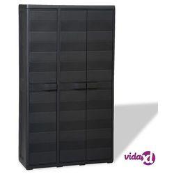 Vidaxl szafa ogrodowa z 4 półkami, czarna (8718475590385)