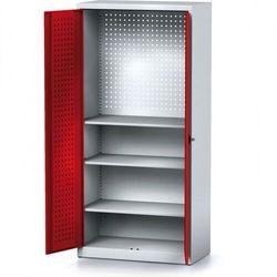Szafa warsztatowa MECHANIC, 1950 x 920 x 500 mm, 3 półki, czerwone drzwi