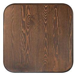 Stół TOWER WOOD czarny - blat sosna antyczna/metal, kolor sosna