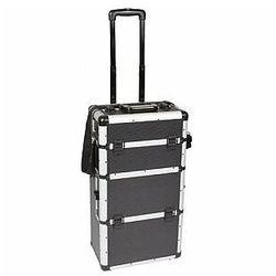 Perel walizka narzedziowa aluminiowa na kółkach - 370 x 225 x 710 mm - czarna