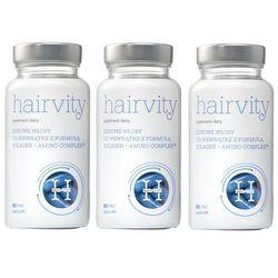 Hairvity Zestaw: 3x Hairvity - suplement diety dla zdrowych włosów - szczegóły w Estyl.pl