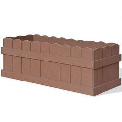 Donica ogrodowa z wpc 70x25x25 cm, brązowa marki Vidaxl