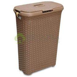 Kosz na bieliznę 40l Natural Style jasny brąz - produkt z kategorii- Kosze na pranie