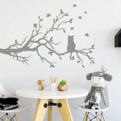Szablon do malowania kot na gałęzi 2382 marki Wally - piękno dekoracji