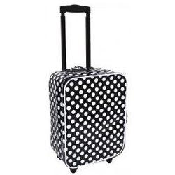 Walizka czarna w kropki (walizeczka dziecięca)