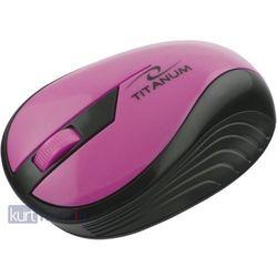 TITANUM Bezprzewodowa Myszka Optyczna 3D TM114P | 2.4 GHz | 1000 DPI | Różowa, kup u jednego z partnerów