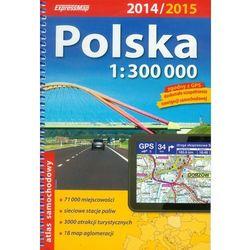 ExpressMap Polska atlas samochodowy 1:300 000, książka w oprawie miękkej