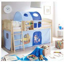 Ticaa kindermöbel Ticaa łóżko z drabinką eric country sosna naturalna pirat/jasnoniebieski-ciemnoniebieski (4250393881151)