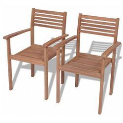 Elior Zestaw drewnianych krzeseł ogrodowych - malion 2x