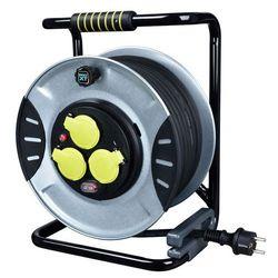 Przedłużacz bębnowy metalowy 3 x 1,5 mm 30 m marki Masterplug