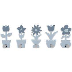 Wieszak ścienny Little Flowers CalleaDesign błękitny