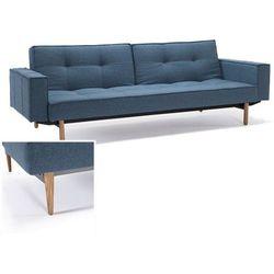INNOVATION iStyle Sofa Splitback z podłokietnikami niebieska 525 nogi jasne drewno - 741010020525-741007020-10-1-6