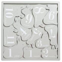 drewniana metryczka do zdjęć puzzle marki Pearhead