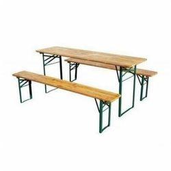Zestaw ogrodowy cateringowy bs stół 2,2 m + 2 ławki marki Malow
