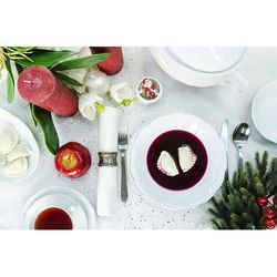 Florentyna Serwis obiad/kawa 12/53 daisy biała z wazą