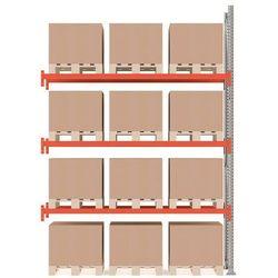 Regał paletowy ultimate, moduł dodatkowy, 12 palet, 4000x2750x1100 mm marki Array