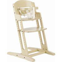 danchair - krzesełko do karmienia - bielone marki Baby dan