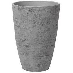 Beliani Doniczka szara okrągła 43 x 43 x 60 cm camia (4260586356953)