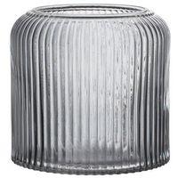 Szara doniczka w prążki w skandynawskim stylu, szkło - Bloomingville, 23609830