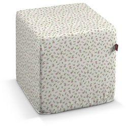 Dekoria Pufa kostka twarda, różowo-zielone kwiatuszki na jasnym tle, 40x40x40 cm, Wyprzedaż do -30%