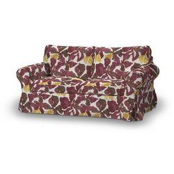 pokrowiec na sofę ektorp 2-osobową, nierozkładaną, żółto-brązowe kwiaty, sofa ektorp 2-osobowa, wyprzedaż do -30% marki Dekoria