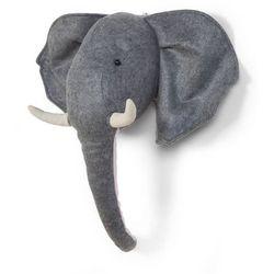 Childwood głowa słonia dekoracja ścienna z filcu, szara, ccfelh