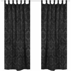 2 czarne barokowe zasłony z tafty 140 x 245 cm marki Vidaxl