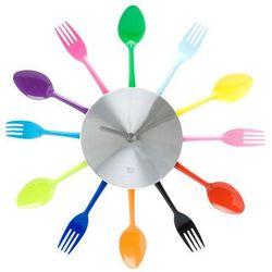 Zegar ścienny Silverware Utensils, kolor szary