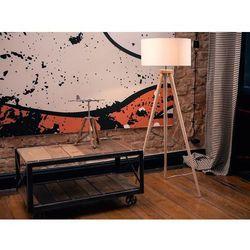 Beliani Lampa stojąca - lampa podłogowa w kolorze białym - oświetlenie - nitra