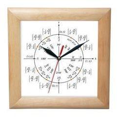 Zegar drewniany kwadrat geometria, ATW2650GM