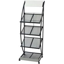 Vidaxl stojak na gazety/czasopisma 47x40x134 cm czarny i biały a4 (8718475500582)