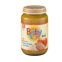 DANIE od 4 mies. RYŻ, DYNIA Z KURCZAKIEM BIO 190g Sun Baby