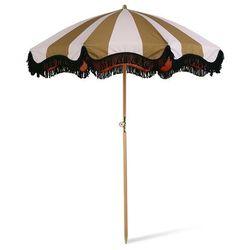 parasolka plażowa klasyczna w paski, musztardowo-cielista mou5005 marki Hkliving