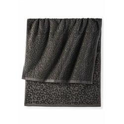 Ręczniki w cętki leoparda czarny marki Bonprix