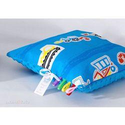 poduszka minky dwustronna 40x40 auta niebieskie / niebieski marki Mamo-tato