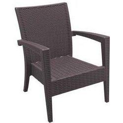 Fotel ogrodowy kawowy z technorattanu Siesta Miami brązowy, kup u jednego z partnerów